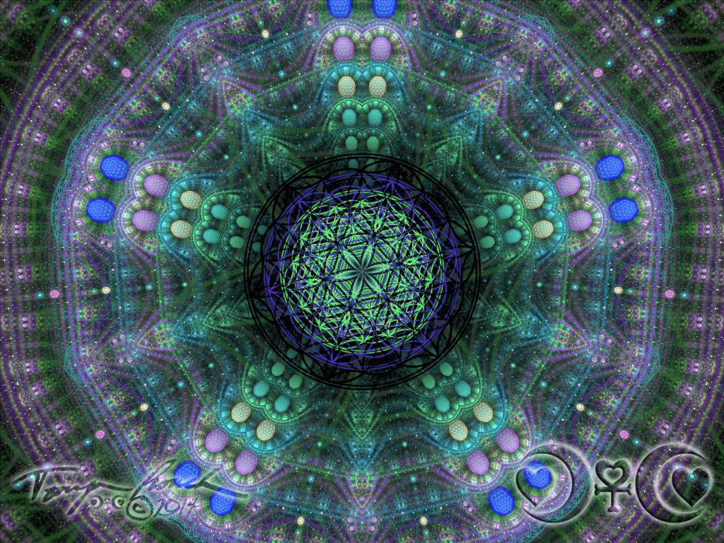 Sacred Flower of Life Mandala